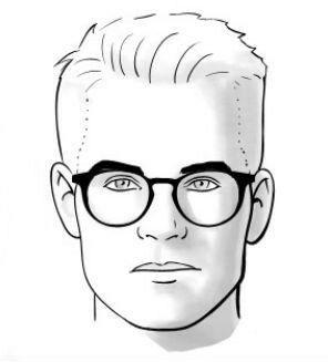 Óculos de grau masculino para rosto quadrado.
