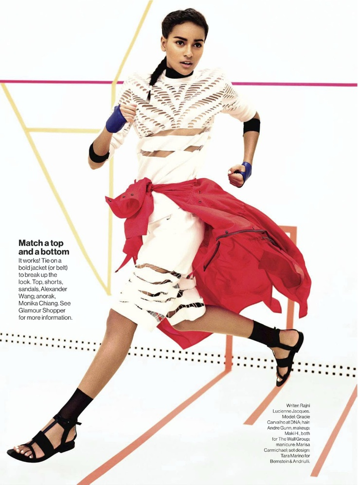 YOU'VE GOT GAME: GRACIE CARVALHO BY BENNY HORNE FOR US GLAMOUR MAY 2013