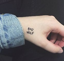 small doctor who tattoos | bad wolf doctor who | Tattoos | Pinterest