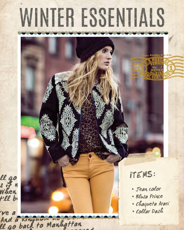 Jean color / Blusa Prince / Chaqueta Arari / Collar Dash #winteressentials #indiastyle