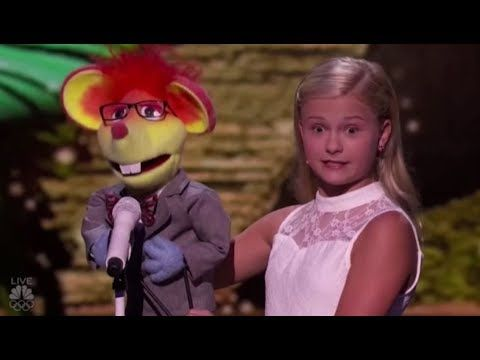 Darci Lynne's New Singing Puppet Has a Romantic CRUSH on Mel B | America's Got Talent 2017 - YouTube