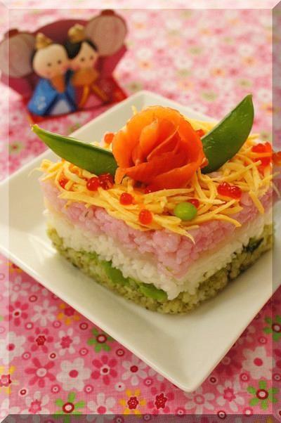 ひな祭りにピッタリなひし形の雛寿司が牛乳パックで簡単に作れます♪ - 178件のもぐもぐ - * 桃の節句 ❤ 菱餅風雛寿司・ひな祭りちらし寿司♪ by Aliceさん by レシピブログ