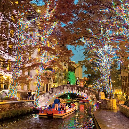 Texas Christmas Lights Road Trip - Southern Living - San Antonio Riverwalk