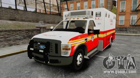 Ford F-250 Super Duty FDLC Ambulance [ELS] para GTA 4
