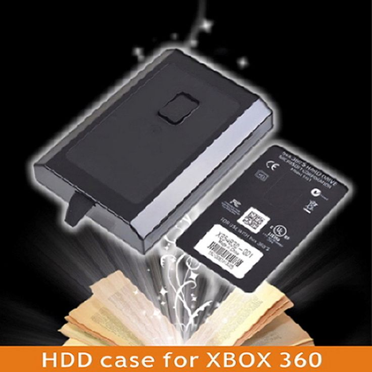 High Quality 250GB HDD Case Hard Drive External Enclosure Box Shell Cover for Microsoft Xbox 360 Slim Black Promotion