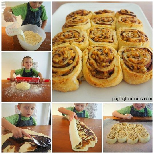 Cooking with kids! Easy Cheese & Vegemite Scrolls