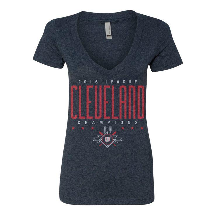 Cleveland Baseball League Champions - Womens Vneck Tshirt