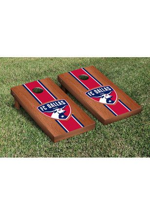 FC Dallas Cornhole Game Set Rosewood Stained Stripe Version