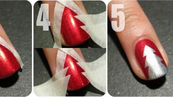 Dans l'ambiance des fêtes jusqu'au bout des doigts? Plus que jamais avec ce motif original pour vos ongles facile à exécuter! Source : the-stylish.tumblr.com  Votre équipe canalvie.com