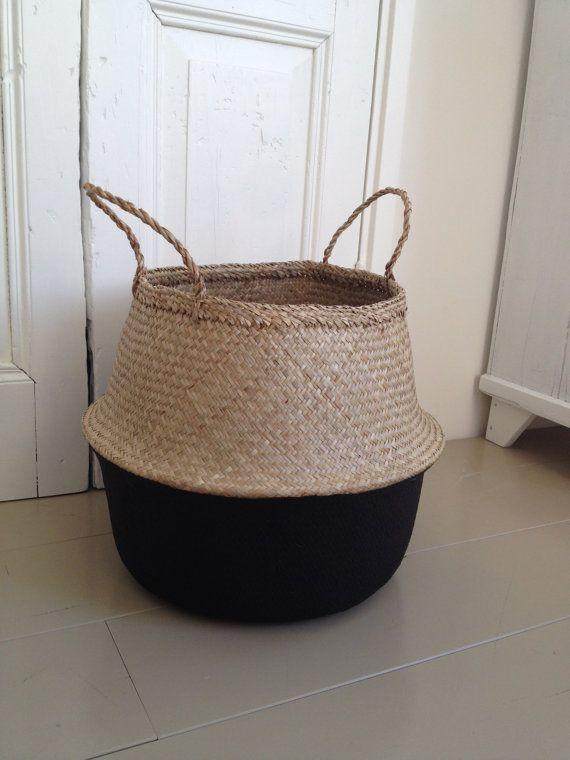 Plongé la pépinière de stockage pour le panier jonc de mer noire pour jouet de linge, boule de panier