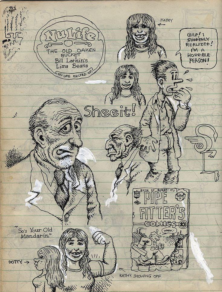 robert crumb c 1970 sketchbook scan from the gallery flickr