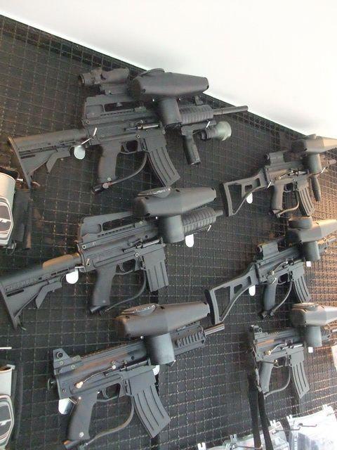 ปืน BB Guns ปืนยาวอัดแก๊ส  Tippmann X7 Paintball Marker = M4 , AK , MP5 , G36