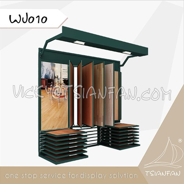 WJ010--Timber Flooring Tile Display Stand With Light