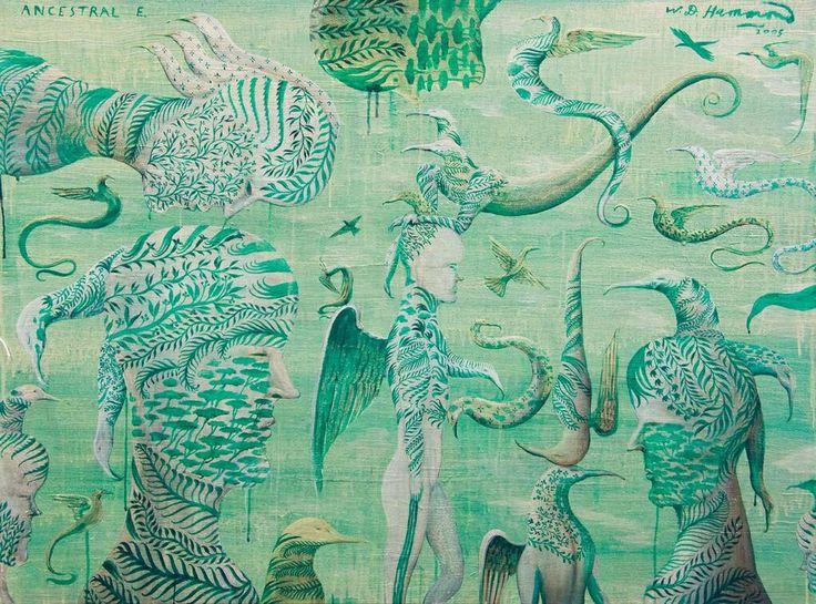 NZ Artist #BillHammond #AncestralE #Green