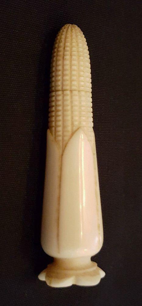 NO RESERVE c1890 Carved Corn on the Cob Needle Case Vintage Antique | eBay £54
