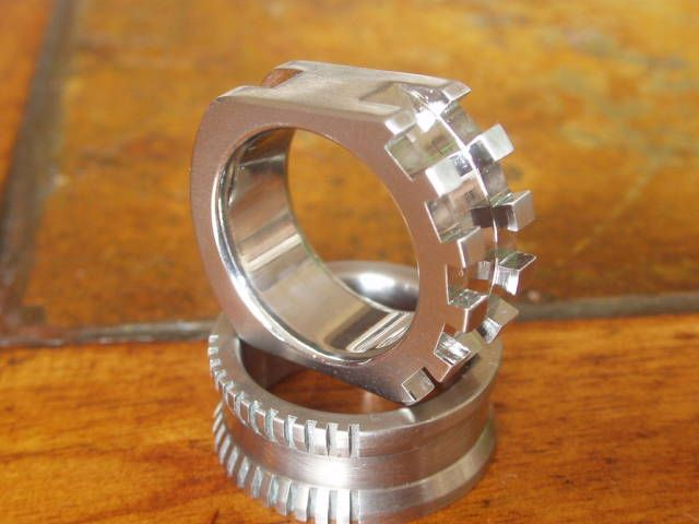 Titanium Tear-Jerker Self-Defense Ring.
