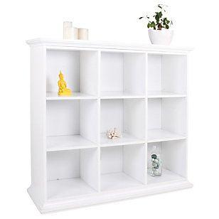 Tvilum  Módulo 6 estantes 125x42x120 cm Paris blanco