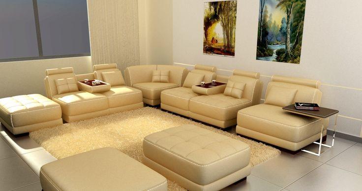 5004 - Modern Bonded Leather Sectional Sofa - Stylish Design Furniture