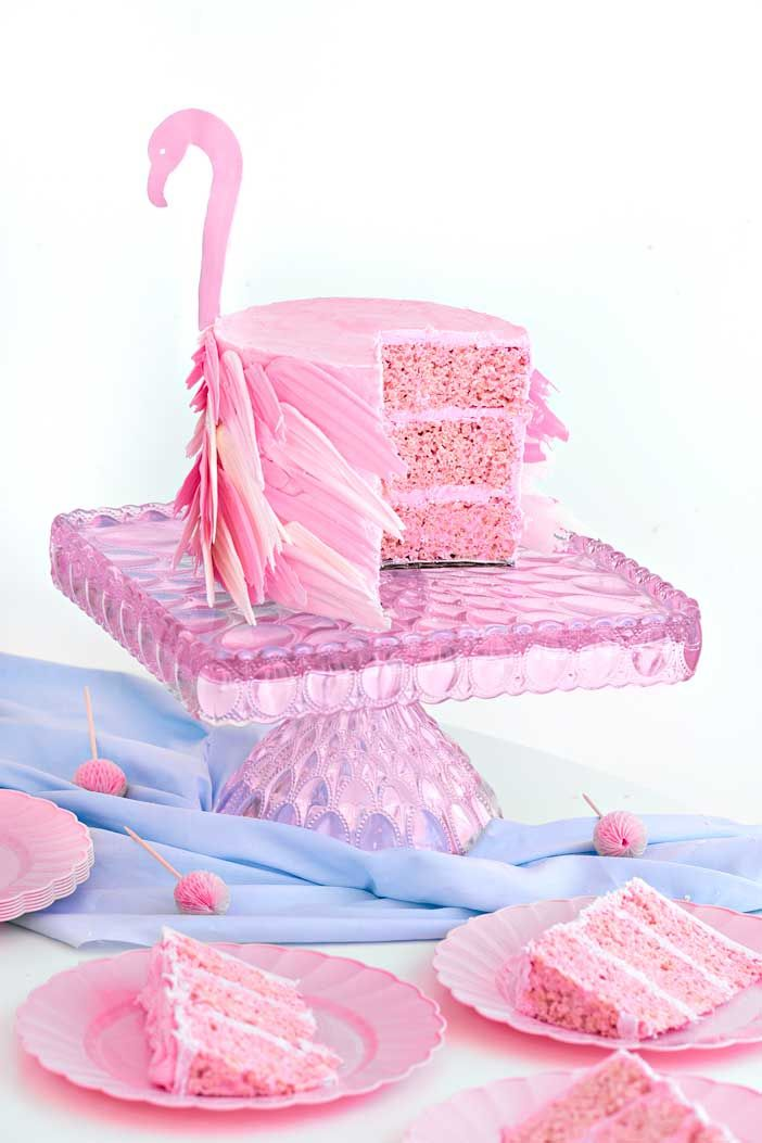 Flamingo Rice Krispy Treat Cake | Sprinkles For Breakfast