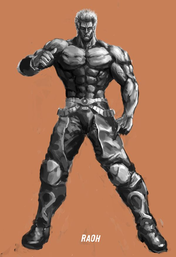 Uncolor Raoh by jiangming on deviantART