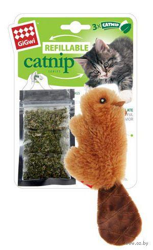 """Игрушка для кошек """"Бобренок"""" с кошачьей мятой (16 см)"""