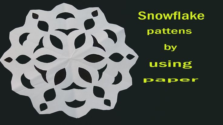 how to make a snowflake out of construction paper video