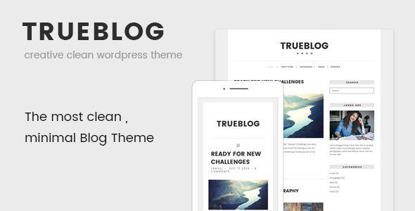 TrueBlog - Clean WordPress Theme (Personal) - http://wpskull.com/trueblog-clean-wordpress-theme-personal/wordpress-offers