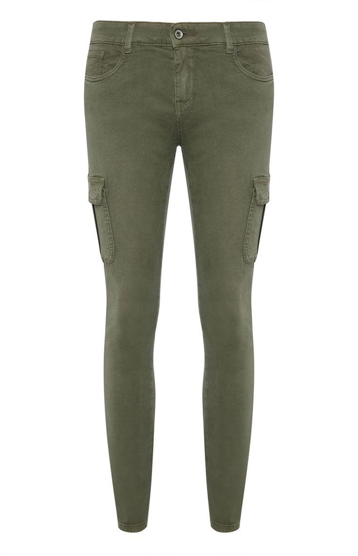 Primark - Kaki skinny jeans