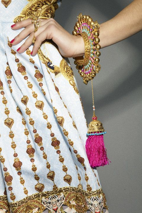 Manish Arora, Amrapali jewelry love the way this bracelets stands out from the wrist.