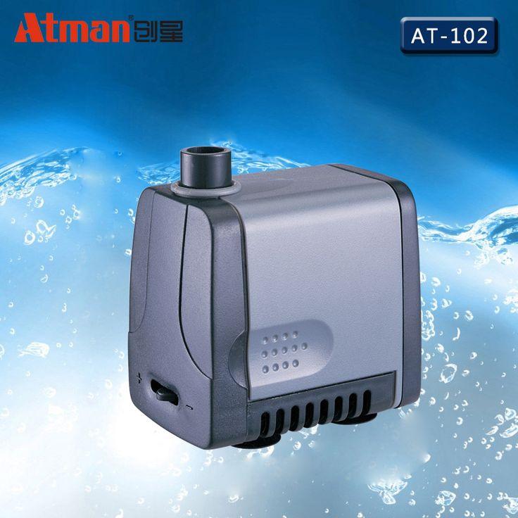 8W 500L/h Atman AT-102 Power Liquid Filter Nano Submersible Water Sump Pump Super Silent Aquarium Fish Tank Water Filter #Affiliate
