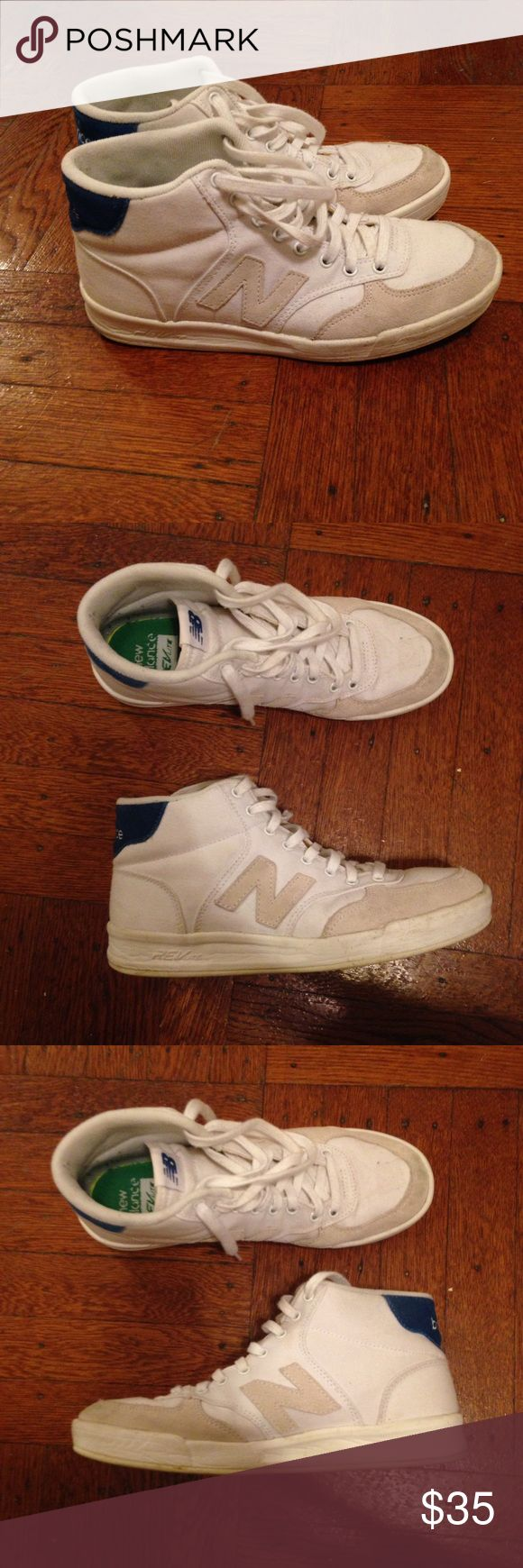 White New Balance high tops White new balance high tops. Gently worn. Canvas. New Balance Shoes Sneakers