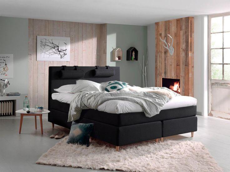 boxspring oslo modern industrieel slaapkamer goossens