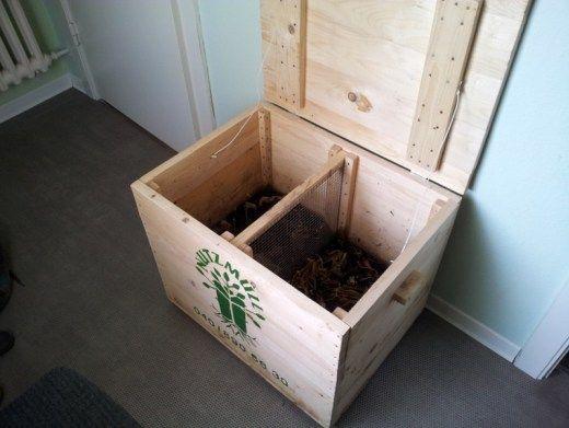 Wurmkiste zur Kompostierung