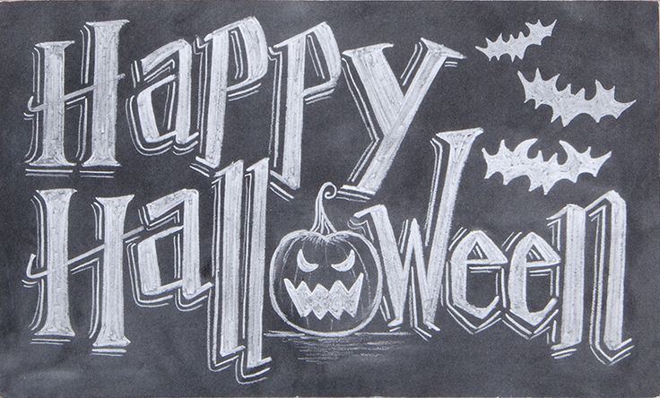 PANDORA wishes all of you a Happy Halloween! - Halloween Chalk Art Sign #DIY #PANDORAloves