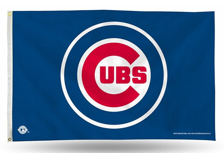 MLB fans enjoy your Chicago Cubs Officially Licensed MLB team gear. CHICAGO CUBS LOGO (ON BLUE) BANNER FLAG 3x5 banner flags