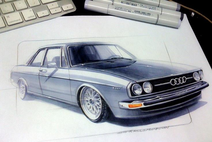 Audi Sketch with Copic 마카를 잘사용해서 자동차 스케치를 한 것같다. 꽤나 섬세한 작업인것같아 어려울 것 같다.