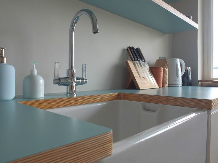 Birch Plywood and Laminate Kitchen Worktop Formica Polyrey Duropal Sample Piece
