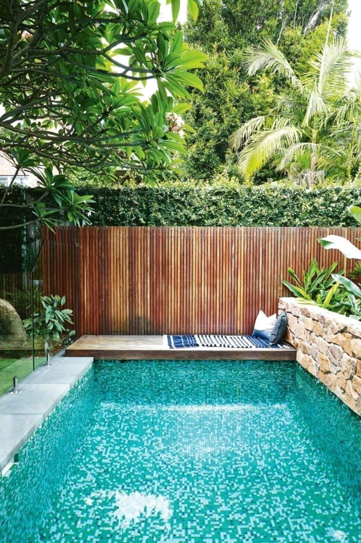 53 Amazing Backyard Landscaping Ideas With Minimalist Swimming Pool For Your Home Home Garden Small Backyard Pools Backyard Pool Landscaping Swimming Pools Backyard