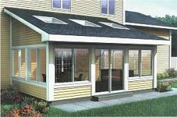 Sunroom Addition (Shed Roof) Plans