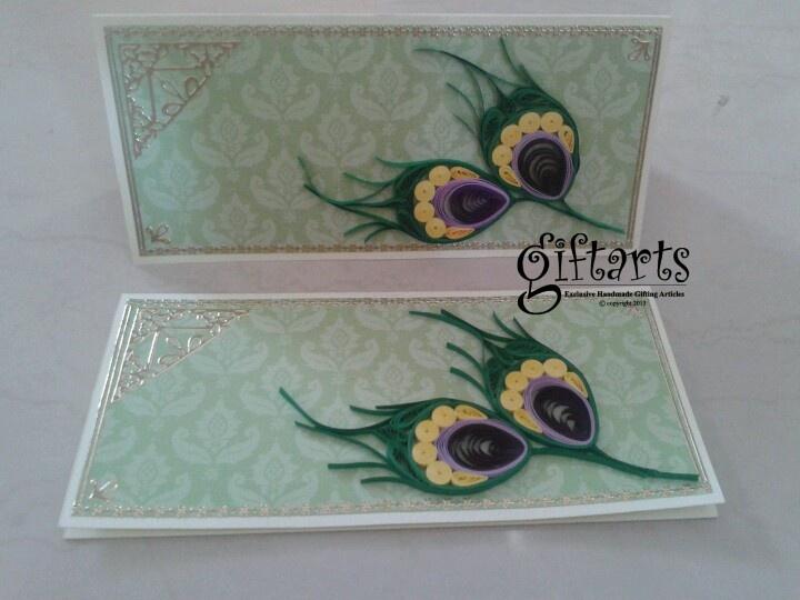 Three fold Quilling envelopes