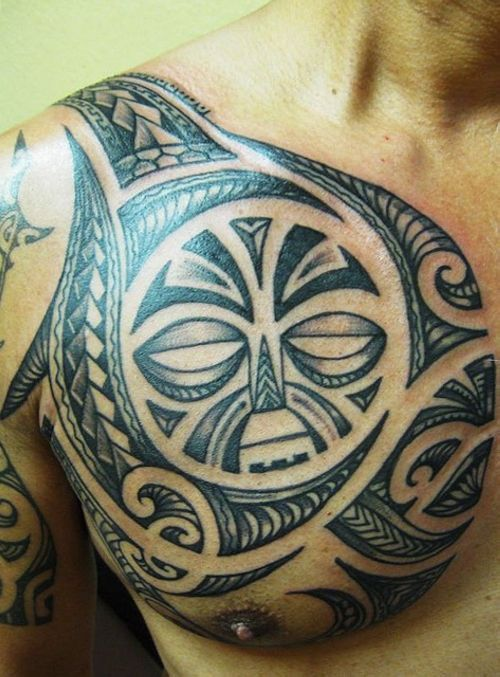 I like the tribal design, but not so much the face part.