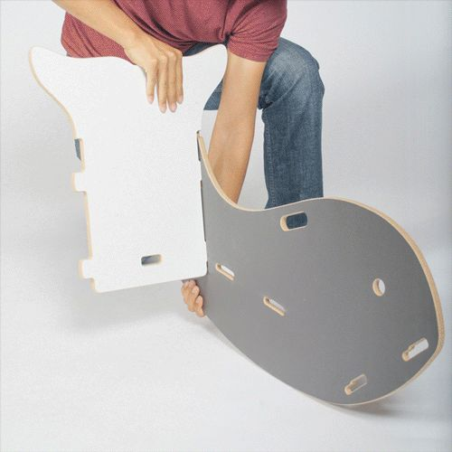 Easy-to-assemble whale rocking chair.
