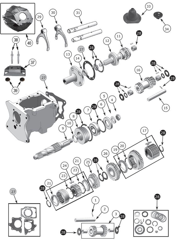 B Warner T18 Parts Diagram