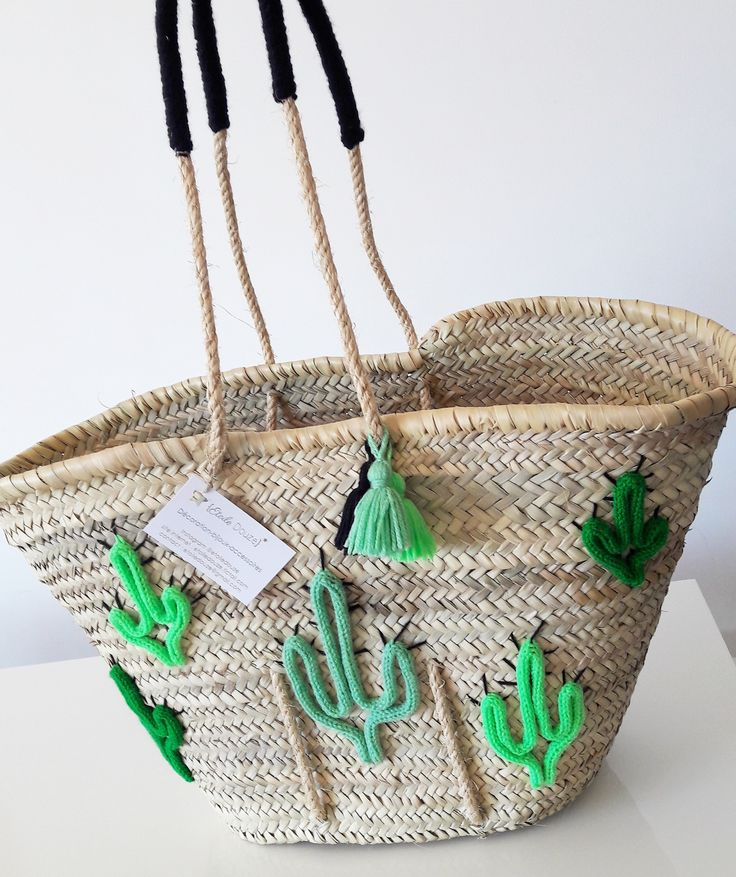 The product Panier de plage Cactus is sold by ETOILEDOUZE in our Tictail store. Tictail lets you create a beautiful online store for free - tictail.com