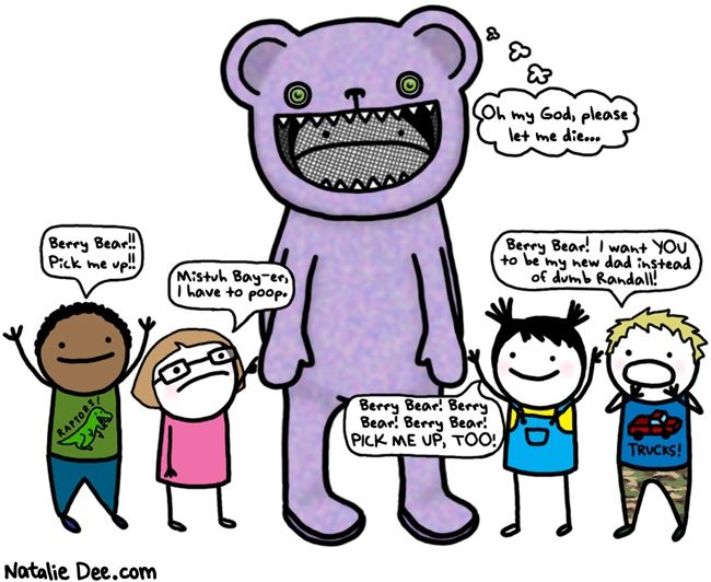 Comic by Natalie Dee: the ballad of berry bearBerries Bears, Miserables Summer, Finding Hilarious, Natalie Dee