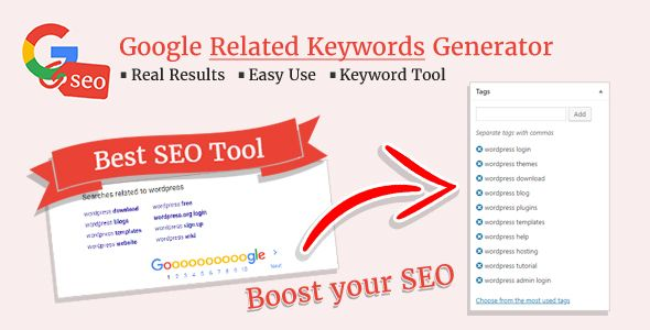 Google Related Keywords Generator Wordpress Seo Keyword Planner Tool Seo Keywords Keyword Planner Wordpress Seo