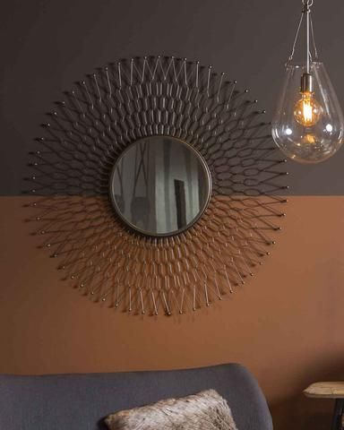 Sunray Sunburst Mirror, Zinc Metal Frame Dia:68cm | Free Delivery