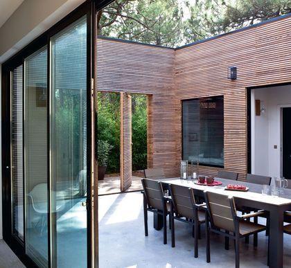 Une terrasse familiale mais design