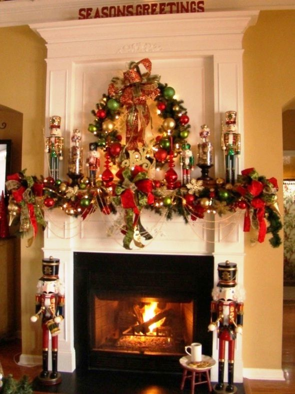 25 Best Ideas about Christmas Fireplace Decorations on Pinterest