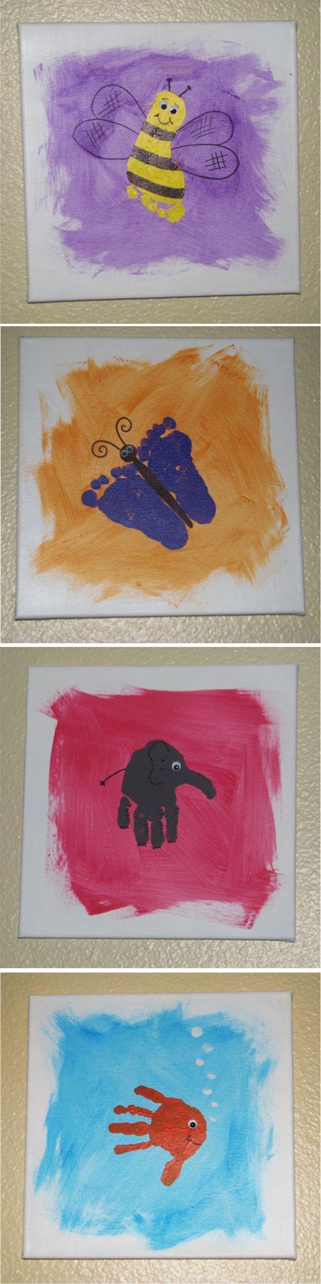 1000 ideas about footprint art on pinterest footprint for Cool diy art projects